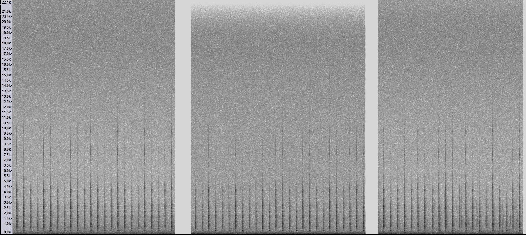 Kellonraksutusta - Vasemmalla Tascam HD-P2, keskellä Edirol R-44 ja oikealla pikkutallennin Olympus LS-100.
